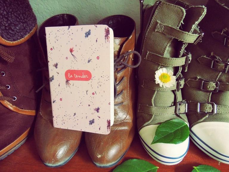 journal be tender boots words ephemera