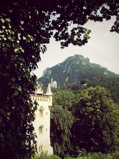 "The ""King's Castles,"" Neuschwanstein as seen from Hohenschwangau"